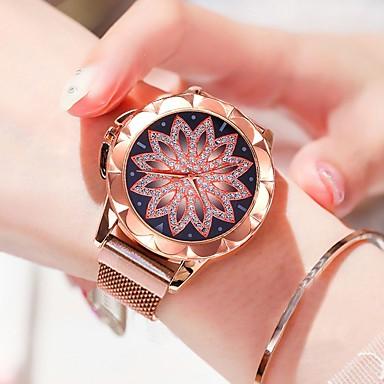 Недорогие Женские часы-Жен. Наручные часы золотые часы Кварцевый Розовое золото Защита от влаги Новый дизайн Аналоговый На каждый день Мода - Розовое золото