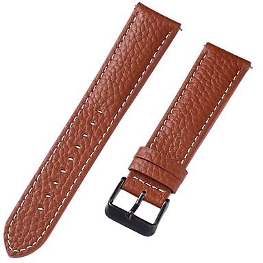 זול רצועות שעון-עור אמיתי / עור / Calf Hair צפו בנד רצועה ל חום 20cm / 7.9 אינצ'ים 1cm / 0.39 אינצ'ים / 1.2cm / 0.47 אינצ'ים / 1.3cm / 0.5 אינצ'ים