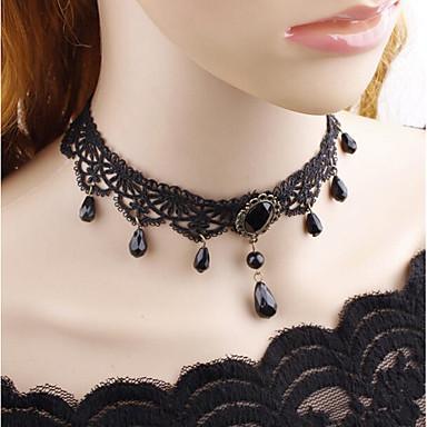 billige Mode Halskæde-Dame Klassisk Kort halskæde Billig Vintage Sej Sort 38 cm Halskæder Smykker 1pc Til Aftenselskab Gade