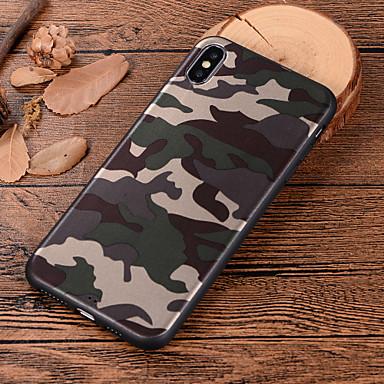 voordelige iPhone X hoesjes-hoesje Voor Apple iPhone XS / iPhone XR / iPhone XS Max Patroon Achterkant Camouflage Kleur Zacht TPU