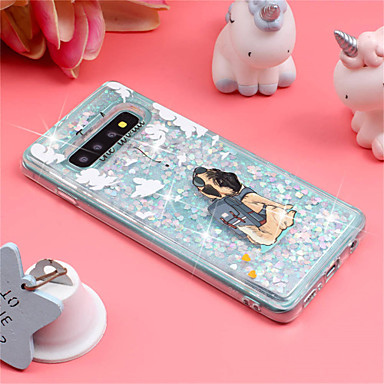 Case For Samsung Galaxy Galaxy S10 Plus / Galaxy S10 E Shockproof / Flowing Liquid / Pattern Back Cover Dog / Glitter Shine Soft TPU for S9 / S9 Plus / S8 Plus