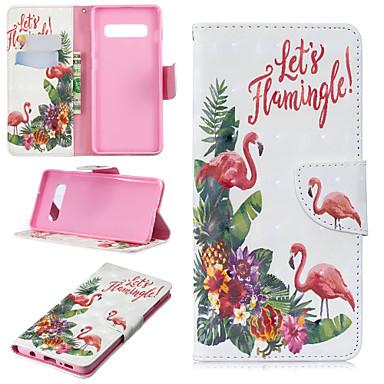 voordelige Galaxy S-serie hoesjes / covers-hoesje Voor Samsung Galaxy S9 / S9 Plus / S8 Plus Portemonnee / Kaarthouder / met standaard Volledig hoesje Flamingo Hard PU-nahka