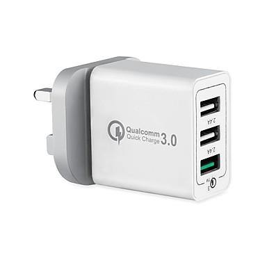 Chargeur USB SR-701US 3 Station de chargeur de bureau Affichage LCD / Design nouveau / Avec identification intelligente Prise US Adaptateur de charge