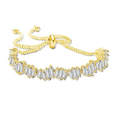 2a6066744f16 Mujer Circonita Cadenas y esclavas Elegante Artístico Pulseras y Brazaletes  Joyas Dorado   Plata   Oro
