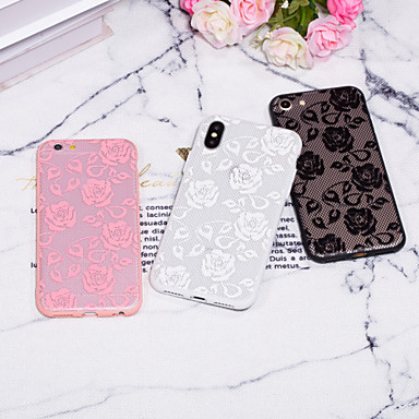 voordelige iPhone 5 hoesjes-hoesje Voor Apple iPhone XS / iPhone XR / iPhone XS Max Reliëfopdruk / Patroon Achterkant Lace Printing Hard PC