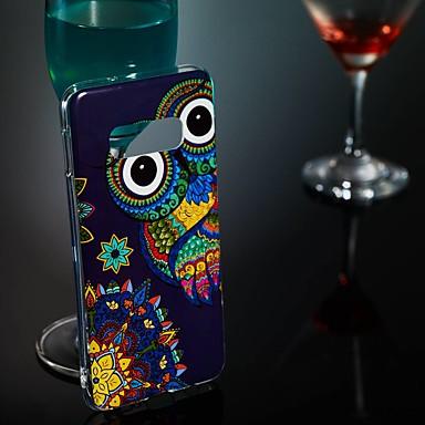 voordelige Galaxy S-serie hoesjes / covers-hoesje Voor Samsung Galaxy S9 / S9 Plus / S8 Plus Glow in the dark / Patroon Achterkant Uil Zacht TPU