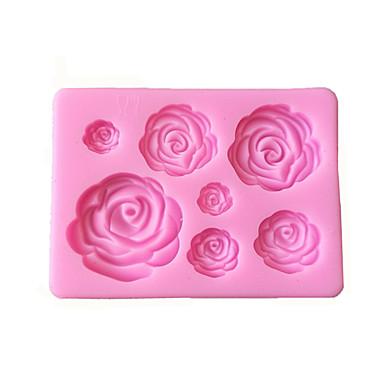 Rose Flowers Shaped Fondant Silicone Mold Craft Chocolate Baking Mold