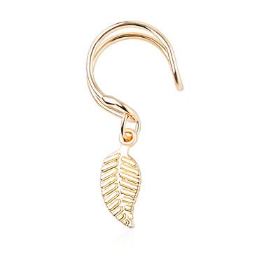 820d2e7fa cheap Clip Earrings-Women's Clip on Earring Leaf Simple Fashion Modern