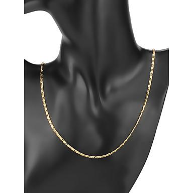 voordelige Heren Ketting-Heren Kettingen Klassiek Baht Chain Eenvoudig Klassiek Koper Verguld Goud 56/61 cm Kettingen Sieraden 1pc Voor Dagelijks Werk