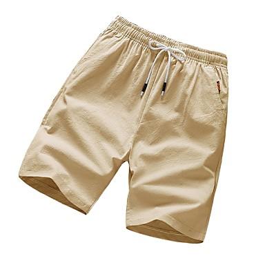 e25f6e93d58d billige Shorts-Herre   Dame Grunnleggende Chinos   Shorts Bukser - Ensfarget  Blå