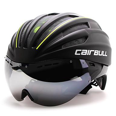 ieftine Căști-CAIRBULL Adulți Cască de Bicicletă cu Ochelari Casca Aero 28 Găuri de Ventilaţie CE EN 1077 Rezistent la Impact Modelată integral Ventilație EPS PC Sport Ciclism stradal - Alb Verde Rosu Bărbați