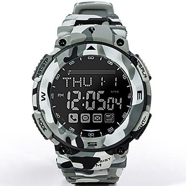 זול שעוני גברים-בגדי ריקוד גברים שעונים צבאיים Japanese דיגיטלי גומי כחול ים 100 m עמיד במים בלותוט' זורח דיגיטלי יום יומי אופנתי - אפור ברזל שנה אחת חיי סוללה