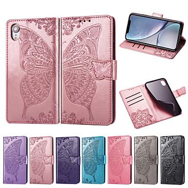 voordelige Galaxy Note-serie hoesjes / covers-hoesje Voor Samsung Galaxy Note 9 Portemonnee / Kaarthouder / met standaard Volledig hoesje Vlinder / Bloem Zacht PU-nahka