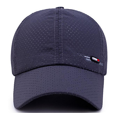cheap Men's Hats-Unisex Basic Polyester Baseball Cap-Solid Colored Dark Gray Navy Blue Light gray