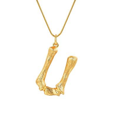 billige Mode Halskæde-Dame X Halskædevedhæng Bogstaver Mode Guld Sort Sølv 55 cm Halskæder Smykker 1pc Til Gave Daglig
