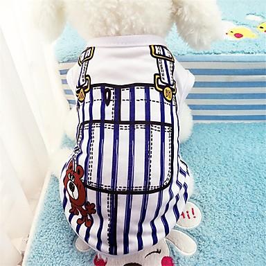 Câini Γιλέκο Îmbrăcăminte Câini Dungi Albastru Roz Bumbac Costume Pentru Primăvara & toamnă Vară Unisex Casul / Zilnic
