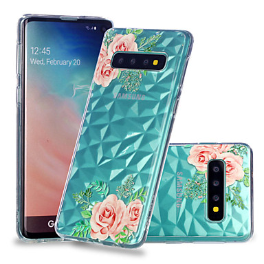 Case For Samsung Galaxy Galaxy S10 Plus / Galaxy S10 E Shockproof / Transparent / Pattern Back Cover Flower Soft TPU for S9 / S9 Plus / S8 Plus