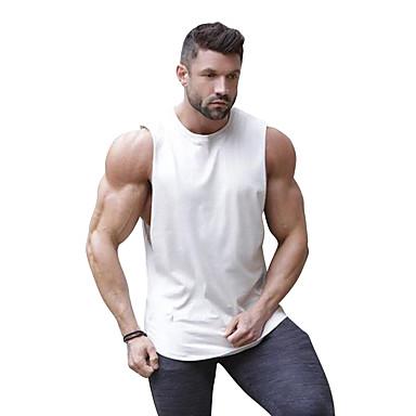 economico Abbigliamento uomo-Canotte Per uomo Collage, Monocolore Rotonda - Cotone Bianco XL