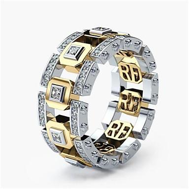 2dd826484f4db رخيصةأون خواتم-رجالي نسائي كلاسيكي خاتم سعيد الحظ أنيق خواتم مجوهرات ذهبي    ذهبي روزي