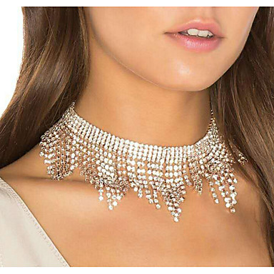 economico Collana-Per donna Girocolli Lusso Nuziale Diamanti d'imitazione Argento 30 cm Collana Gioielli 1pc Per Matrimonio Serata