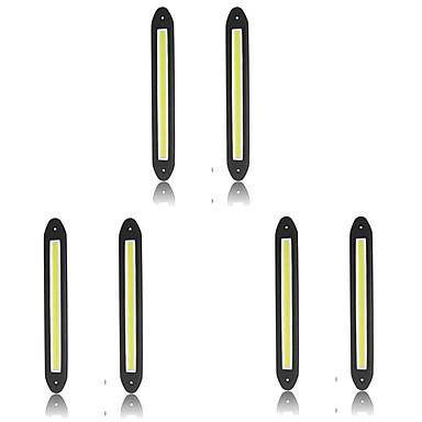 voordelige Autoverlichting overdag-6pcs Draad verbinding Automatisch Lampen 10 W COB 800 lm 10 LED Dagrijverlichting Voor Universeel Alle jaren