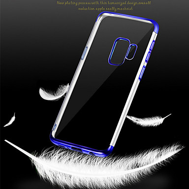 voordelige Galaxy S-serie hoesjes / covers-hoesje Voor Samsung Galaxy S9 / S9 Plus / S8 Plus Beplating Achterkant Transparant Zacht TPU