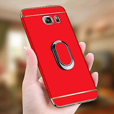 Недорогие Чехлы и кейсы для Galaxy S6-Кейс для Назначение SSamsung Galaxy S9 / S9 Plus / S8 Plus Защита от удара / Покрытие / Кольца-держатели Чехол Однотонный Твердый ПК