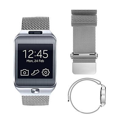 voordelige Horlogebandjes voor Samsung-Horlogeband voor Gear 2 R380 / Gear 2 Neo R381 / Gear Live Samsung Galaxy Sportband / Milanese lus Roestvrij staal Polsband