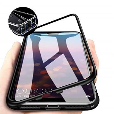 billige Etuier/covers til Huawei-Etui Til Huawei Huawei P30 / Huawei P30 Pro Magnetisk Fuldt etui Ensfarvet Hårdt Tempereret glas for Huawei P20 / Huawei P20 Pro / Huawei P20 lite