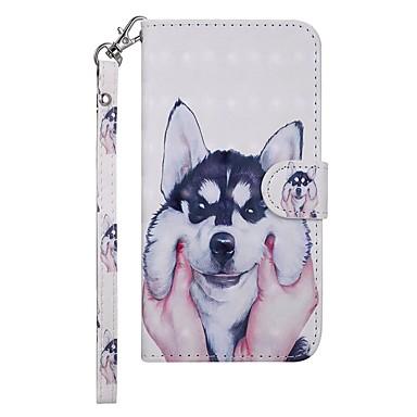 voordelige Galaxy S-serie hoesjes / covers-hoesje Voor Samsung Galaxy Galaxy S10 Portemonnee / Kaarthouder / met standaard Volledig hoesje Hond Hard PU-nahka
