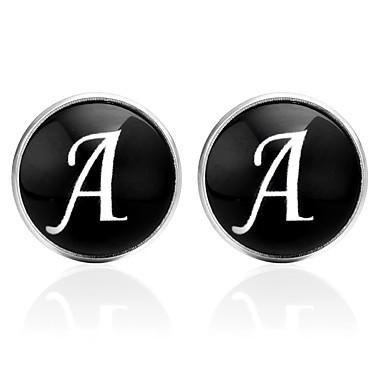 Bogstaver Sort / Sølv / Brun Manchetter glas / Plastik Alfabetformet Pænt tøj / Koreansk Unisex Kostume smykker Til I-byen-tøj / Valentine