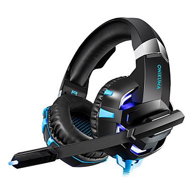 رخيصةأون سماعات الرأس و الأذن-LITBest سماعة الألعاب سلكي الألعاب لمبات LED تعمل بالصوت
