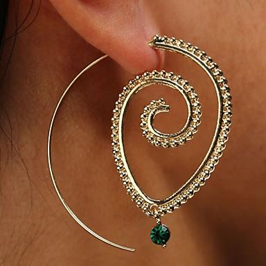 530175539f181 Women's Crystal Ear Piercing Hoop Earrings Geometrical Classic ...