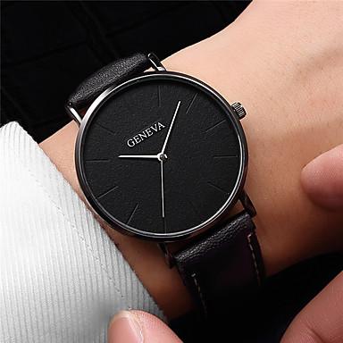Bărbați Ceas Elegant Quartz Piele Negru / Maro Ceas Casual Analog Modă minimalist Ceas simplu - Auriu+Alb Roz auriu Negru / Roz auriu Un an Durată de Viaţă Baterie