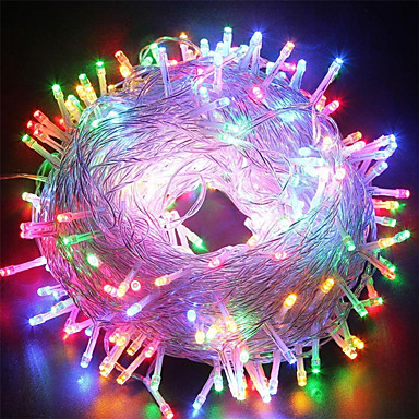 100M Гирлянды 800 светодиоды Тёплый белый / RGB / Белый Водонепроницаемый / Творчество / Для вечеринок 12 V 1 комплект