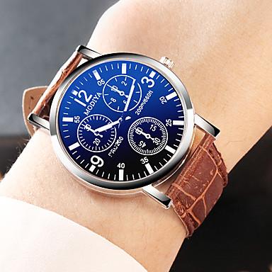 ราคาถูก นาฬิกาแบบสายหนัง-YAZOLE สำหรับผู้ชาย นาฬิกาตกแต่งข้อมือ นาฬิกาอิเล็กทรอนิกส์ (Quartz) หนัง ดำ / น้ำตาล นาฬิกาใส่ลำลอง ระบบอนาล็อก แฟชั่น - สีดำ สีดำ / สีน้ำตาล สีน้ำตาล หนึ่งปี อายุการใช้งานแบตเตอรี่ / สแตนเลส