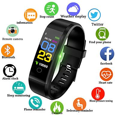 levne Pánské-Pánské Digitální hodinky Křemenný Silikon Černá / Modrá / Červená 30 m Voděodolné Smart Bluetooth Analogové Outdoor Módní - Černá Červená Modrá / Chronograf / LCD