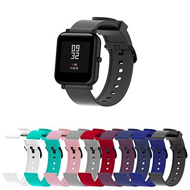 billige Klokkeremmer til Xiaomi-Klokkerem til Huami Amazfit Bip Younth Watch Xiaomi Sportsrem Silikon Håndleddsrem