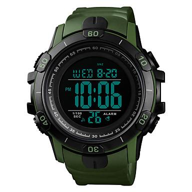 Χαμηλού Κόστους Ανδρικά ρολόγια-SKMEI Ανδρικά Στρατιωτικό Ρολόι Χαλαζίας σιλικόνη Μαύρο / Πράσινο 50 m Στρατιωτικό Ανθεκτικό στο Νερό Συναγερμός Ψηφιακό Υπαίθριο Μοντέρνα - Μπλε Χρυσό Σκούρο πράσινο / Ενας χρόνος