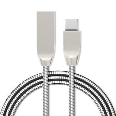 halpa Kaapelit ja adapterit-C-tyypin 어댑터 / Kaapeli 1,0 (3ft) Sisäänvedettävissä / pikalataus sinkkiseos / Ruostumaton teräs USB-kaapelisovitin Käyttötarkoitus Samsung / Huawei / LG