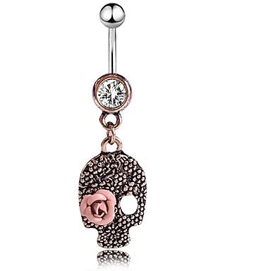 Χαμηλού Κόστους Κοσμήματα σώματος-Γυναικεία Κοσμήματα Σώματος 4.6 cm Δαχτυλίδι / Δακτύλιος της κοιλιάς Cubic Zirconia Χρυσό Τριανταφυλλί Μοντέρνο Ανοξείδωτο Ατσάλι Κοστούμια Κοσμήματα Για Απόκριες / Φεστιβάλ Καλοκαίρι