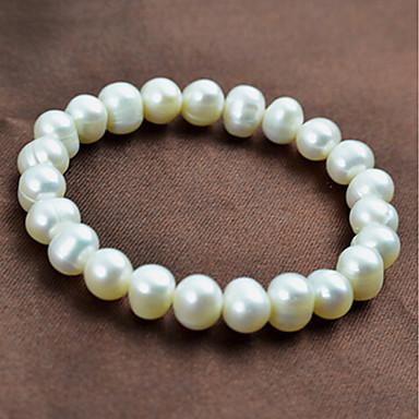 economico Bracciali-Per donna Bianco Perle Braccialetto con perline 3D Prezioso Alla moda Essenziale Perla Gioielli braccialetto Bianco Per Quotidiano Ufficio