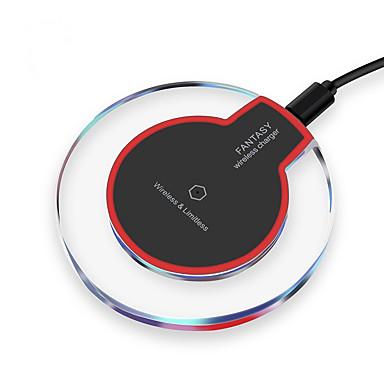 Недорогие Гаджеты для Samsung-Беспроводное зарядное устройство Зарядное устройство USB Универсальный Беспроводное зарядное устройство / Qi Не поддерживается 2 A DC 5V для iPhone X / iPhone 8 Pluss / iPhone 8