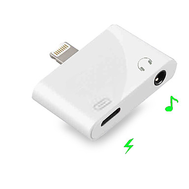 billige Headset og hovedtelefoner-2 i 1 lyn til 3,5 mm jack øretelefon aux ios 9/10/11/12 for iphone xs max x 8 7 plus dobbelt hovedtelefon lyd opladning adapter