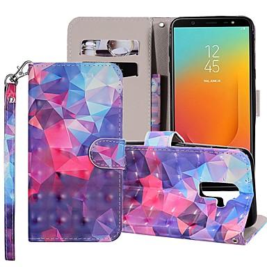 voordelige Galaxy J-serie hoesjes / covers-hoesje Voor Samsung Galaxy J8 (2018) / J7 (2017) / J7 (2018) Portemonnee / Kaarthouder / met standaard Volledig hoesje Geometrisch patroon / Kleurgradatie Hard PU-nahka