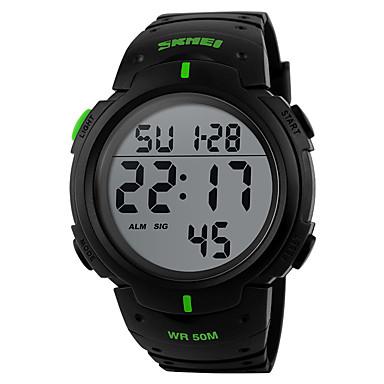 זול שעוני גברים-SKMEI בגדי ריקוד גברים שעון דיגיטלי דיגיטלי סיליקוןריצה שחור / ירוק 50 m עמיד במים לוח שנה כרונוגרף דיגיטלי יום יומי חוץ - כחול מוזהב פרי ירוק