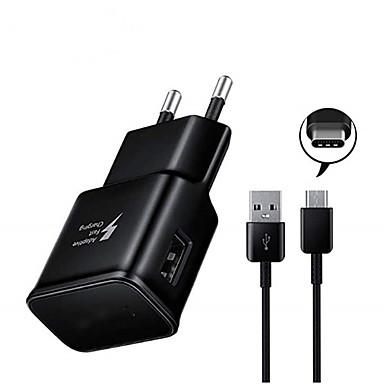 billige Telefonladere-Rask lader USB-lader Eu Plugg QC 2.0 1 USB-port 3.1 A DC 5V til Universell