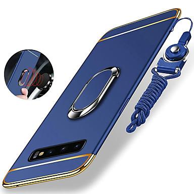voordelige Galaxy S-serie hoesjes / covers-hoesje Voor Samsung Galaxy S9 / S9 Plus / S8 Plus Schokbestendig / Beplating / Ringhouder Achterkant Effen Hard PC / Metaal