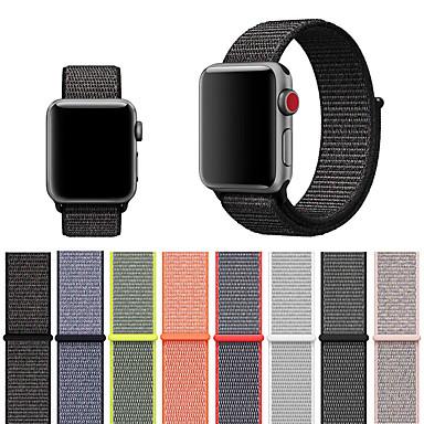 Недорогие Ремешки для Apple Watch-ремешок для яблочных часов 4/3/2/1 тканая нейлоновая петлевая мягкая дышащая замена на липучке спортивные ремешок для часов для iwatch 40мм 44мм 42мм 38мм