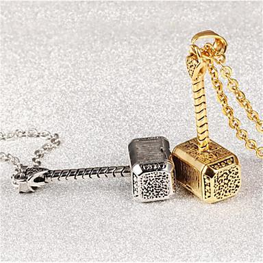 Недорогие Модные ожерелья-Муж. Жен. Обниматели геометрический Креатив Мода Титановая сталь Брошь Бижутерия Золотой Серебряный Назначение Подарок Повседневные